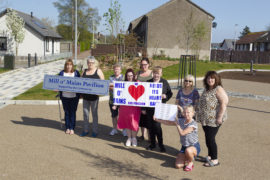 Members of the Mill o' Mains community group who are demanding a temporary replacement for the pavilion.