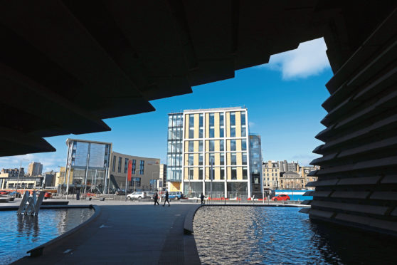The redevelopment of Dundees waterfront has encouraged investment.