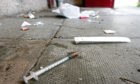 Needles and drug paraphernalia found in Dundee.