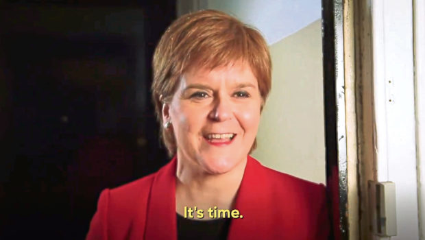 Screenshot from yesscot video featuring First Minister Nicola Sturgeon. New indyref 2 campaign.