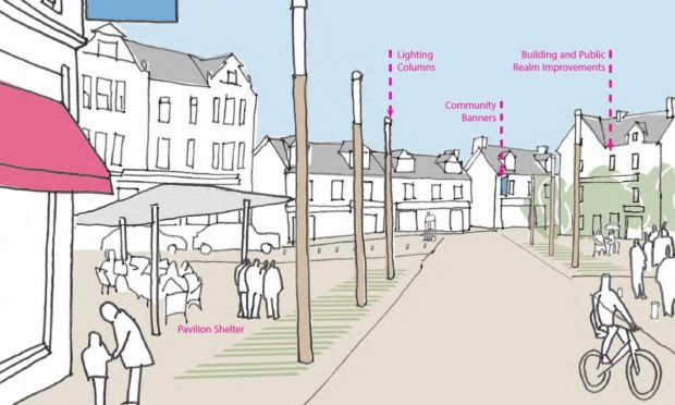 Sketch illustrating how Aberfeldy town centre could look