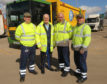 Councillor Vettraino with some of the local binmen.