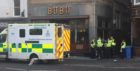 Police attend the incident on the Nethergate