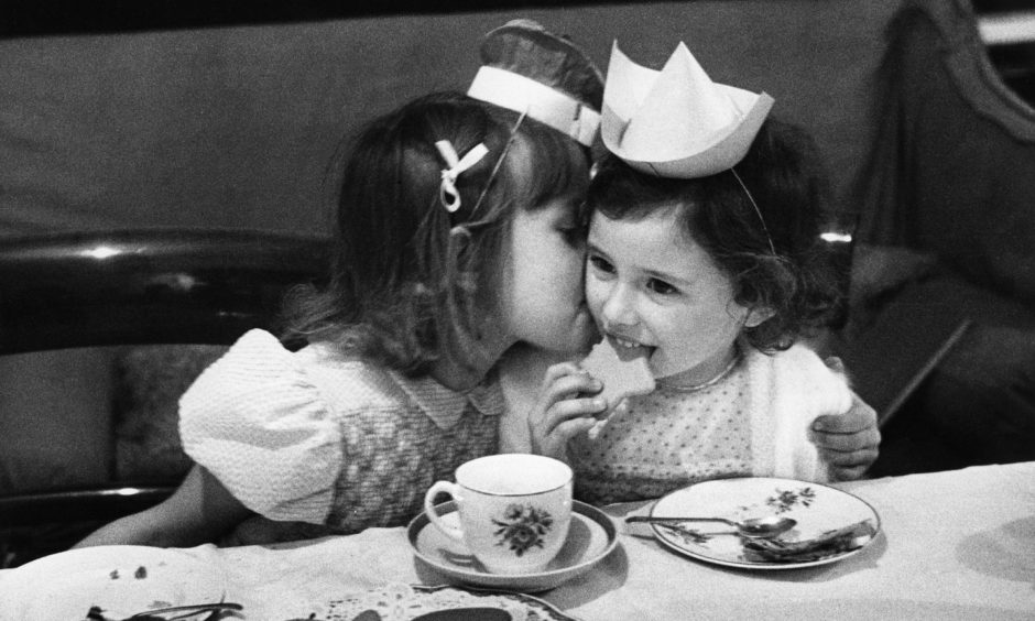 15th December 1951:  Children at a Christmas party find plenty to eat, despite the problems of rationing. Original Publication: Picture Post - 5620 - Hints For That Party - pub. 1951