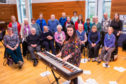 Amy Lord with the Singing for Wellbeing choir.