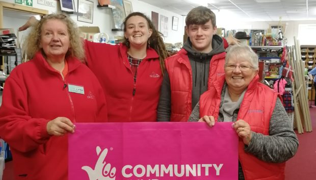 Remake's Lynn Ramsbottom, Christina Harris, Lee MacDonald and Helen Keith have celebrated the charity's cash injection.