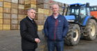 Mr Goodwill (L) met arable farmer Richard Stephen in Aberdeenshire.