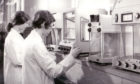 Students conduct an experiment at Dundee College of Technology c. 1971