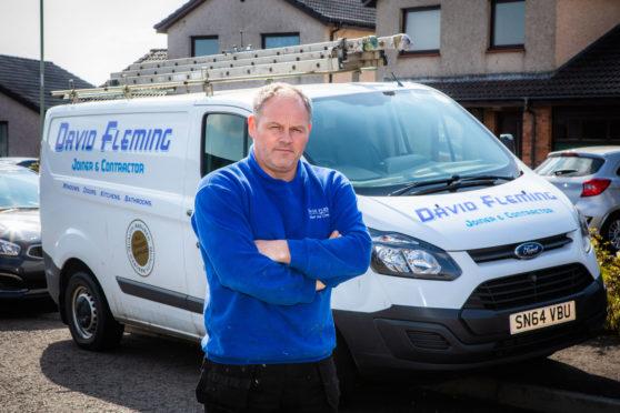 David Fleming with his van.