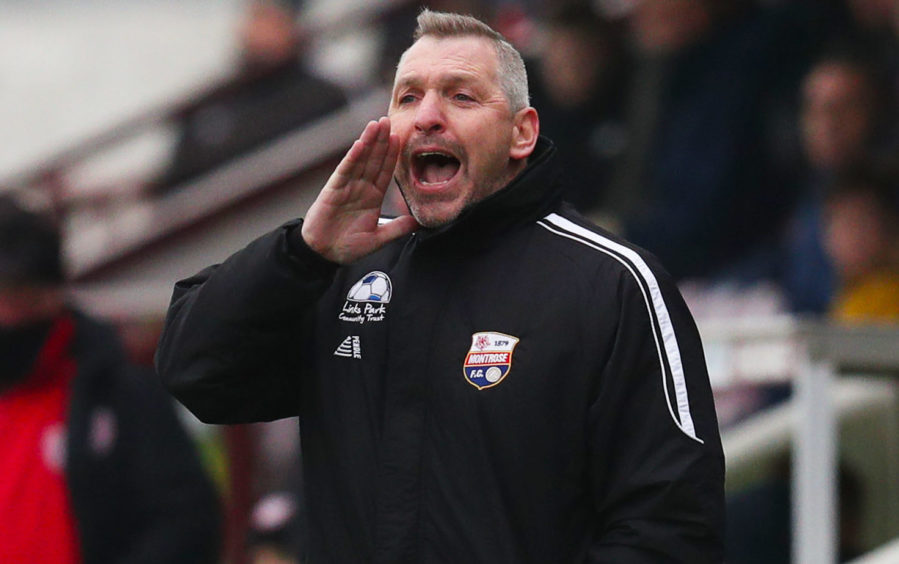 Montrose manager Stewart Petrie.