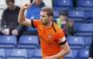 Dundee United's Pavol Safranko celebrates his goal to make it 1-0