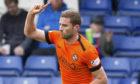 Dundee United's Pavol Safranko celebrates his goal to make it 1-0.
