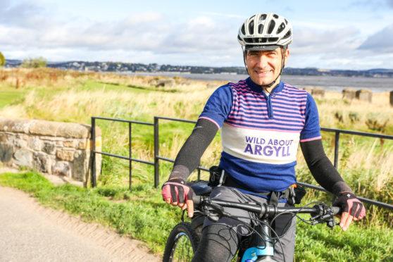 Founder of Bikepacking Scotland, Markus Stitz, near Tentsmuir Forest.