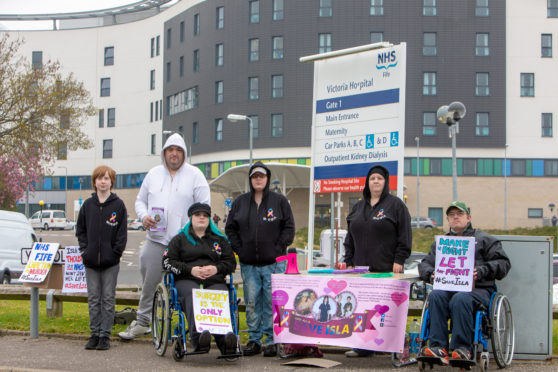 Isabella Keatings' family staged a series of protests in relation to her care at Victoria Hospital