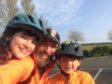 Scot with children Maisie and Tavish.
