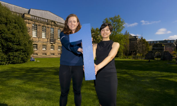 Fiona Murray (left), president of St Andrews University Athletic Union, with student association president Paloma Paige