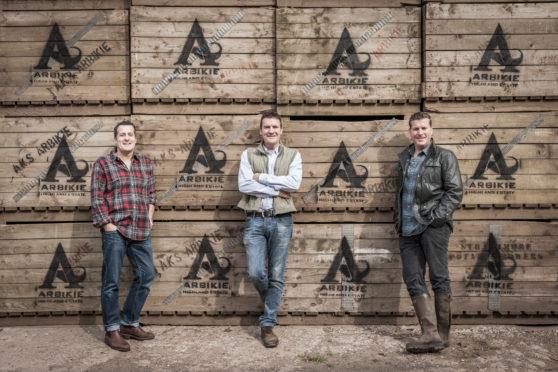 Iain, John and David Stirling of Arbikie Distillery
