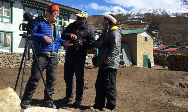 The team shooting the Sherpa film in Nepal