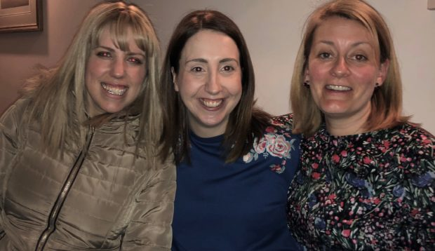 The Keep the Heid team of Alison, Claire and Kat