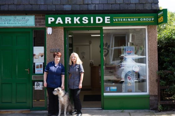 Receptionists Mandi Scott (left) And Susan Forsyth outside the Broughty Ferry Lawrence Street branch.