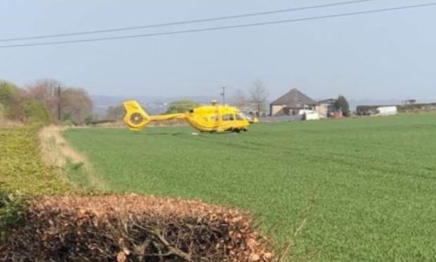 One of the casualties was airlifted to Edinburgh Royal Infirmary.