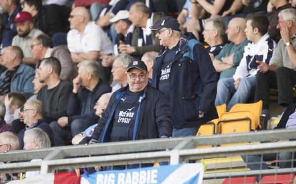 The Dundee fans left McDiarmid Park early.