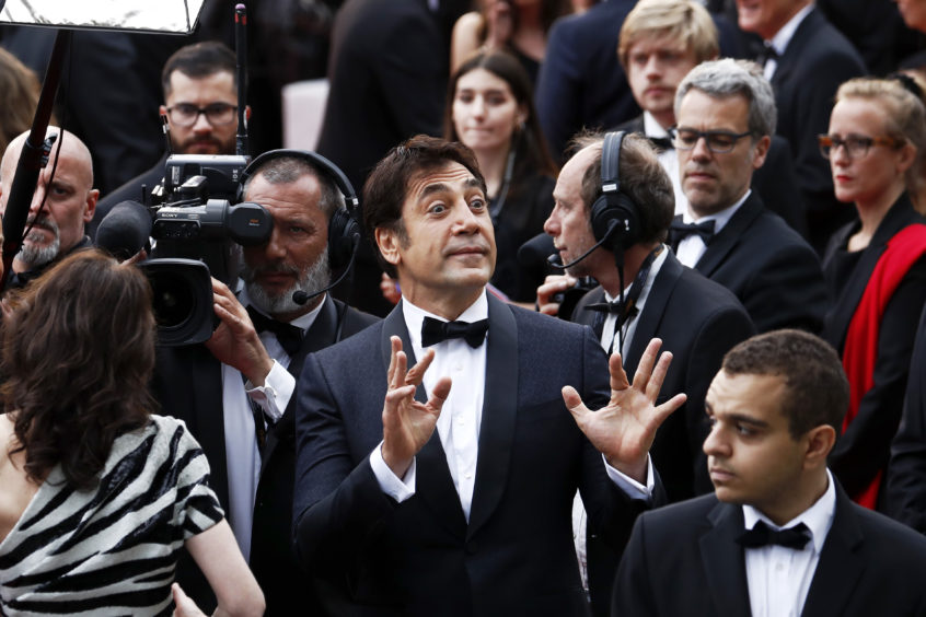 Javier Bardem attends the opening ceremony at the 72nd annual Cannes Film Festival.