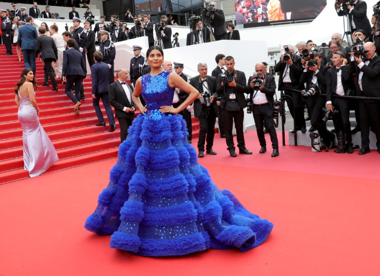 "Farhana Bodi attends the opening ceremony and screening of ""The Dead Don't Die"" during the 72nd annual Cannes Film Festival."