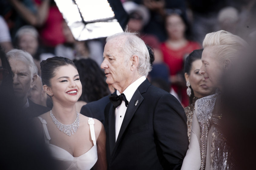 "Selena Gomez and Bill Murray attend the opening ceremony and screening of ""The Dead Don't Die""."