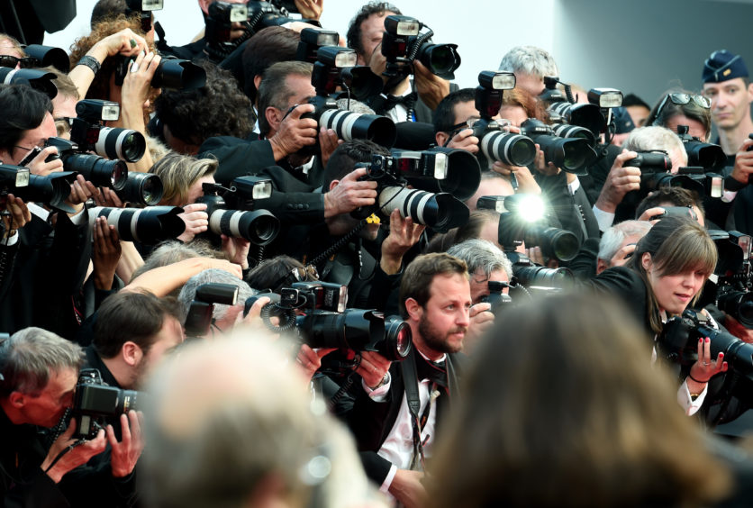 """Photographers during the red carpet for the screening of """"Once Upon A Time In Hollywood"""" during the 72nd annual Cannes Film Festival on May 21, 2019 in Cannes, France."""