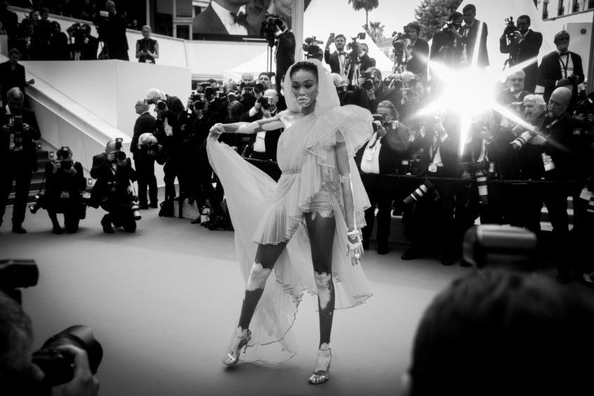 """Winnie Harlow attends the screening of """"Once Upon A Time In Hollywood"""" during the 72nd annual Cannes Film Festival on May 21, 2019 in Cannes, France."""