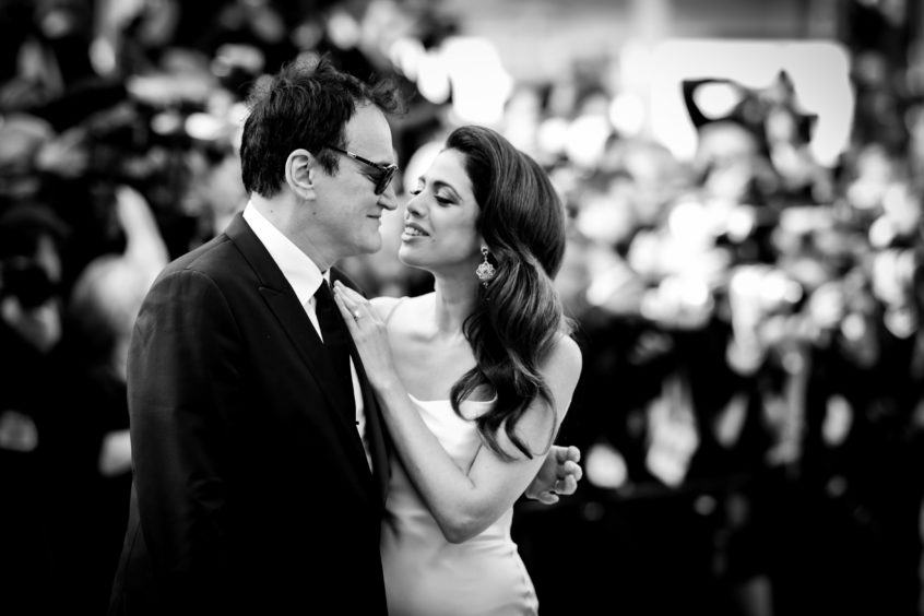 """Quentin Tarantino and his wife Israeli singer Daniella Pick attend the screening of """"Once Upon A Time In Hollywood"""" during the 72nd annual Cannes Film Festival on May 21, 2019 in Cannes, France."""