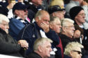 A Dundee fan watches on in anguish.