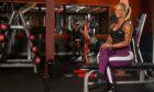Bodybuilder Kirsty-Louise Hancock at Cargill's Gym in Forfar.