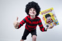 Ruaridh Brewer, 8, superfan of Beano comics.