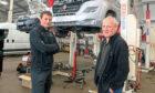 Steve Crozier (right) and his son Mark of Auto Services Perth Ltd.