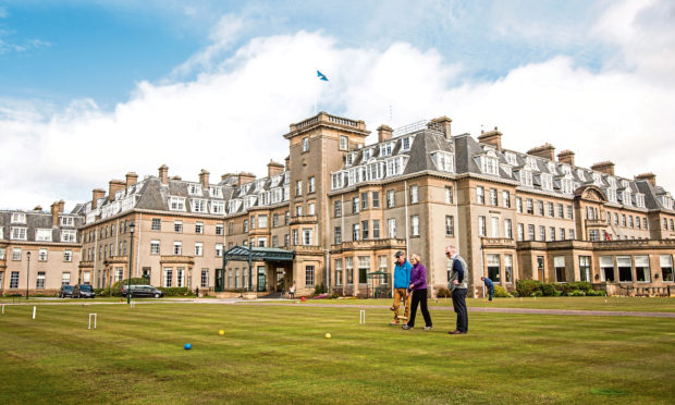 The exterior of Gleneagles Hotel