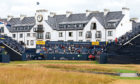 The hotel, featuring the Rolex clock, during the 2018 Open Championship.
