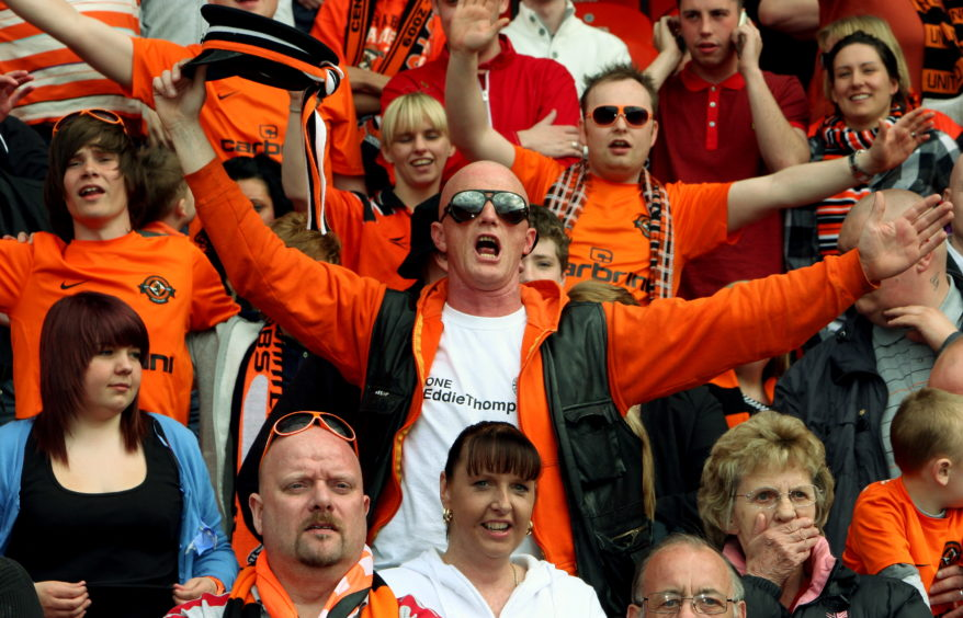 Hooly in the crowd as Dundee United win the Scottish Cup in 2010