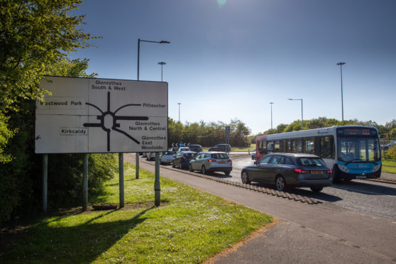 Bankhead roundabout in Glenrothes