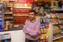 Uddhab Bhattarai in his shop on Arbroath's West Port