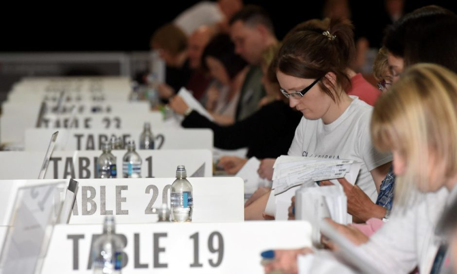 European Parliamentary Elections 2019 count at the AECC.