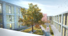 An artist's impression of how the courtyard of the new care home will look.