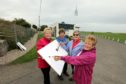 Wendy Murray, Gail Gilbert, Marjorie Smart and Irene Donaldson got their brushes out after the theft