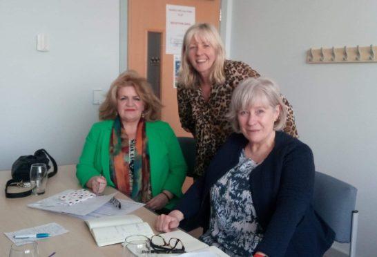 Feisty Women chairwoman Anne Porter, right, with vice-chairwomen Sandra Burke and Ann Kirkland