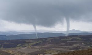 Dave Barrett spotted the rare phenomenon in the hills north of Kirriemuir