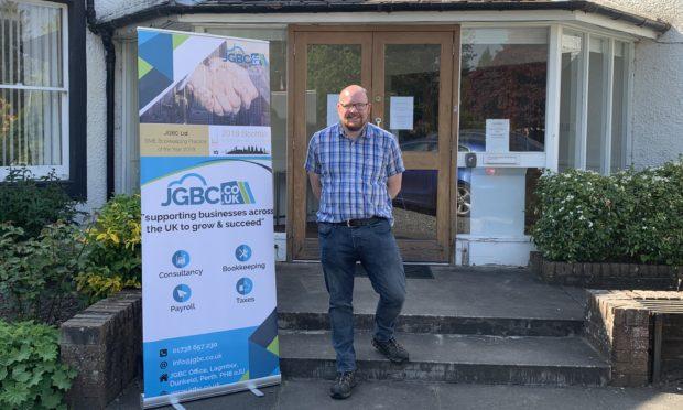Johann Goree outside JGBC
