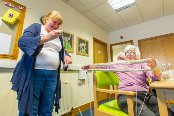 Volunteers and people living with dementia who attend the Kirriemuir Connections Centre.
