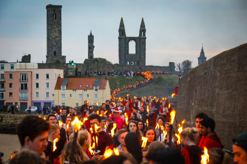 Gaudie torchlight procession.