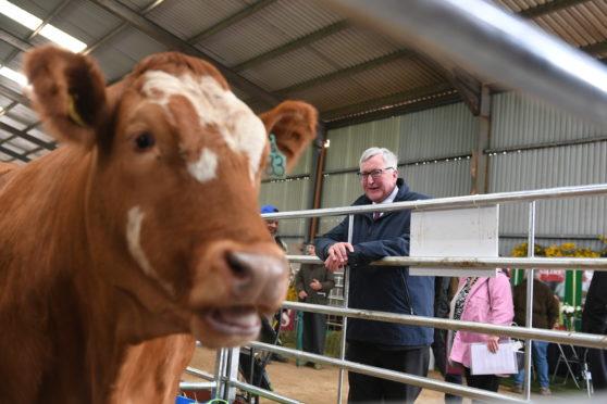Fergus Ewing at the beef event at North Bethelnie Farm, Oldmeldrum.